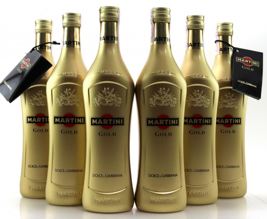 Bottiglie di Martini Gold Dolce&Gabbana