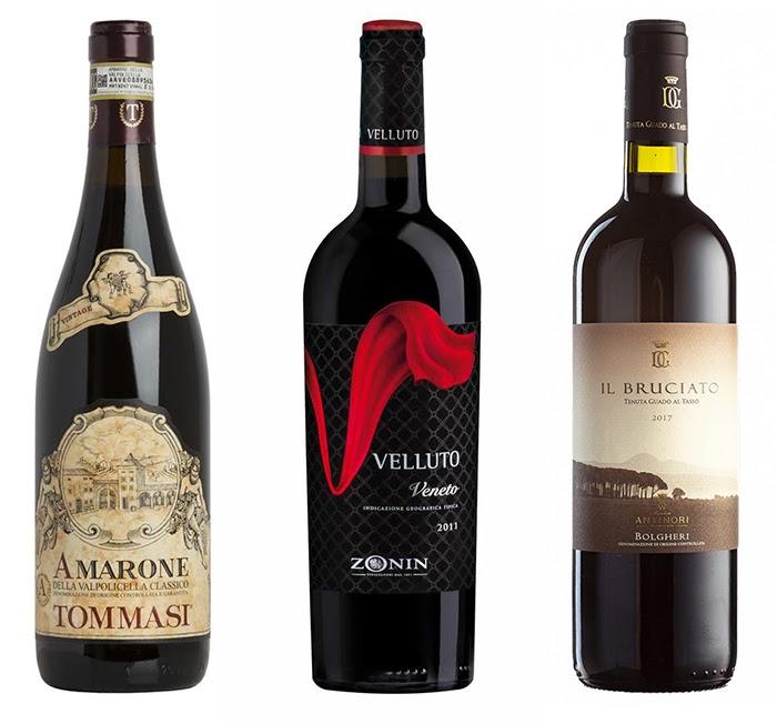 Esempio di neuromarketing applicato a 3 vini: Amarone, Velluto e Il Bruciato sono nomi che attivano la sensorialità tattile