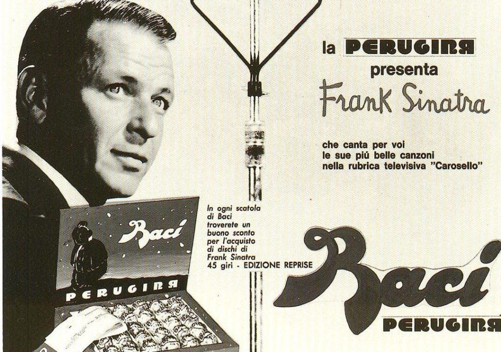 Pubblicità di Baci® con Frank Sinatra durante Carosello