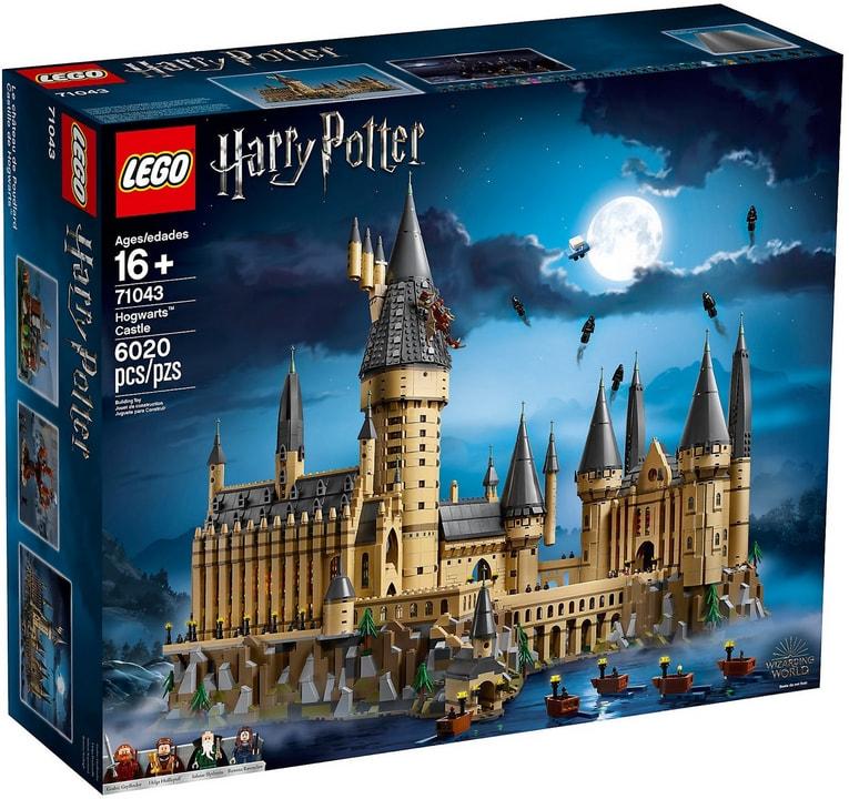 Scatola LEGO del castello di Hogwarts della serie fantasy Harry Potter