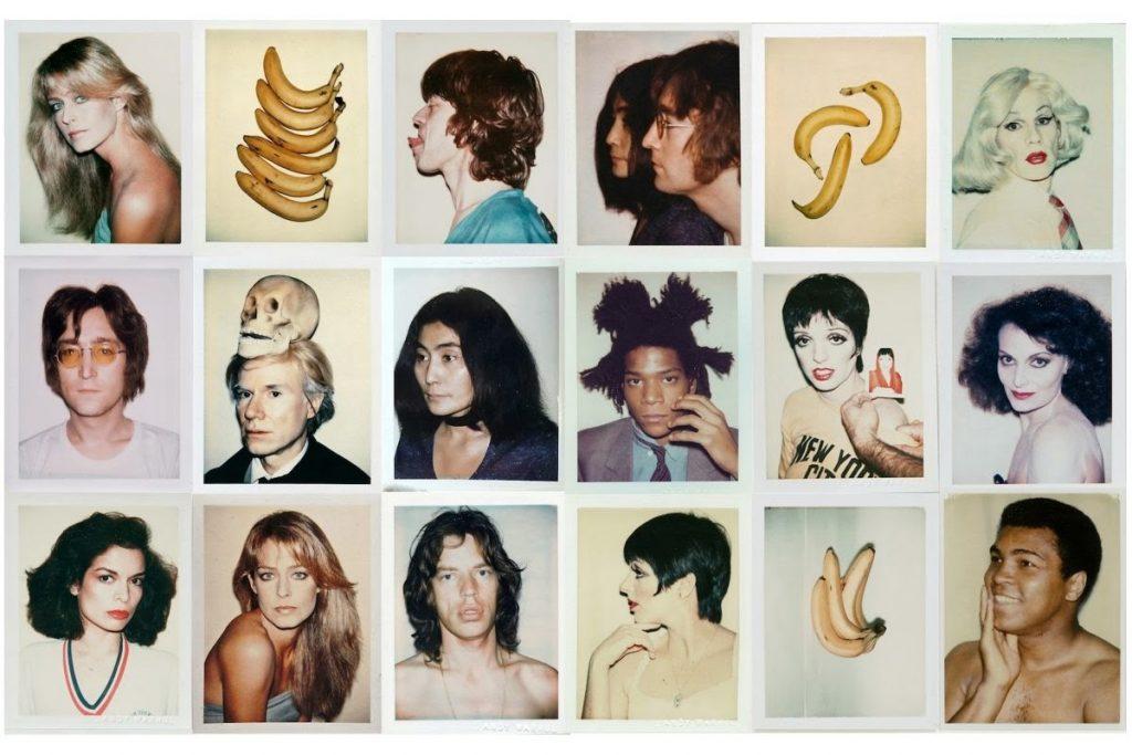 Collage di Polaroid scattate da Andy Warhol