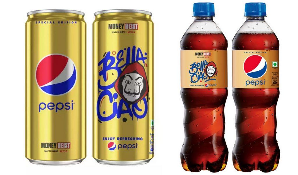 Collaborazione tra Pepsi e Netflix per La Casa di Carta