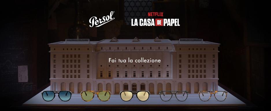 """La collezione al completo degli occhiali Persol firmati """"La Casa di Carta"""""""