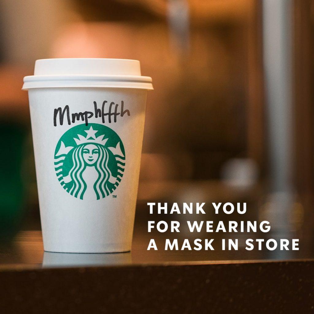 Post autoironico di Starbucks
